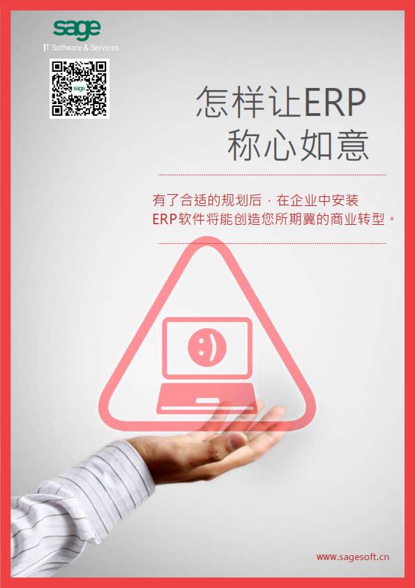 怎样让ERP称心如意系列——第1部分