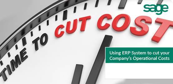 用ERP系统来削减运营成本