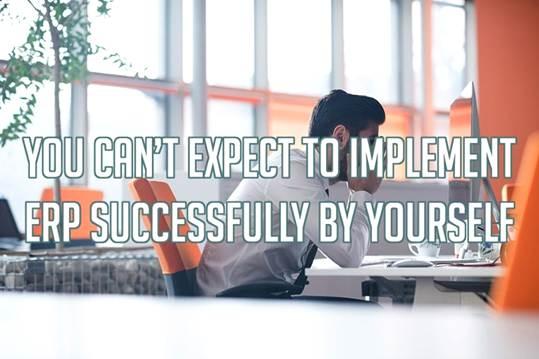 成功实施ERP需要专业团队的帮助