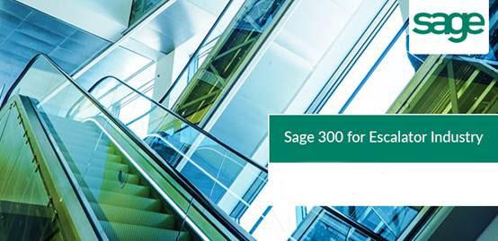 电梯安装业的Sage 300 ERP软件